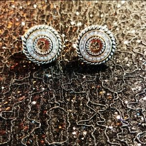 Brighton silver and crystal earings